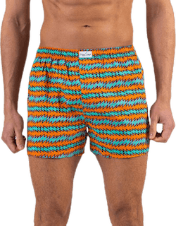 Rock n Roll Stripe Boxer Orange