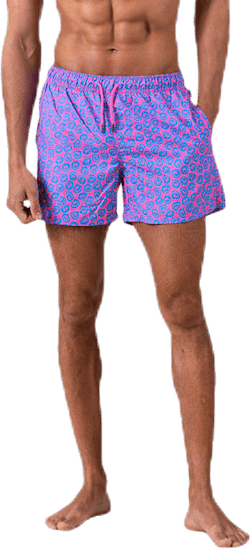 Twisted Smile Swim Shorts Pink