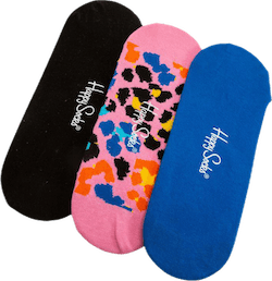 3-Pack Multi Leo Liner Sock Pink