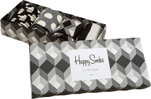 Black And White 4-pack Gift Box Black
