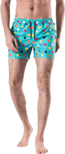 Big Dot Swim Shorts Green