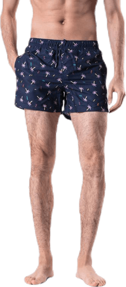 Confetti Palm Swim Shorts Blue