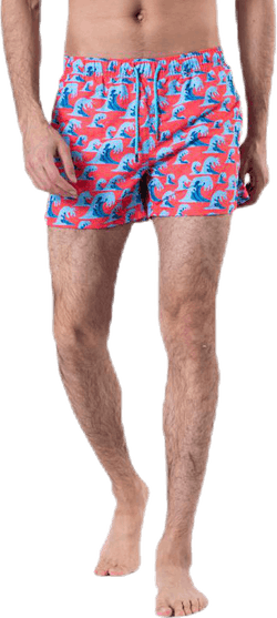 Wave Swim Shorts Red