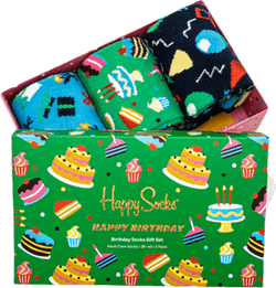 Happy Birthday 3-Pack Gift Box Patterned