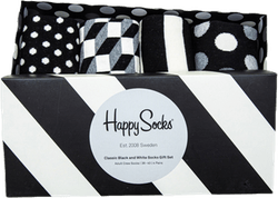 Classic Black & White 4-Pack Gift Box Patterned