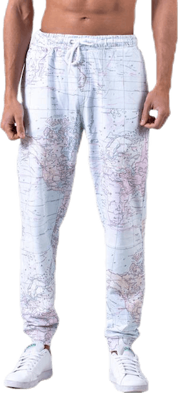 Joggers Lund Map Patterned