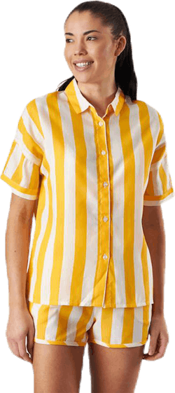 Shirt Short Sleeve Nibe Big Stripes Yellow