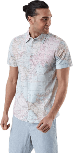 Shirt Short Sleeve Sandefjord Map Patterned