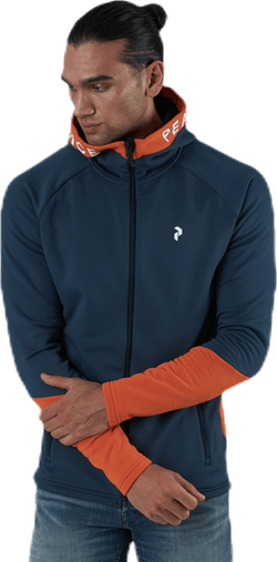 Rider Zip Hood Blue/Orange