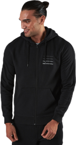 Ground Zip Hood Black