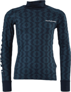 Jr Spirit Print Crew Pattern Blue/Black