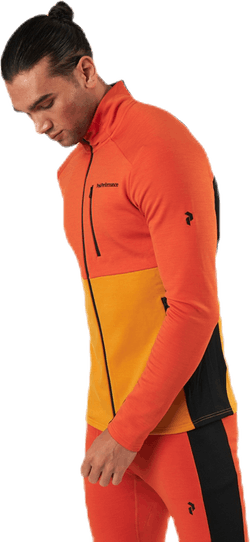 Vertical Mid Zip Jacket Orange