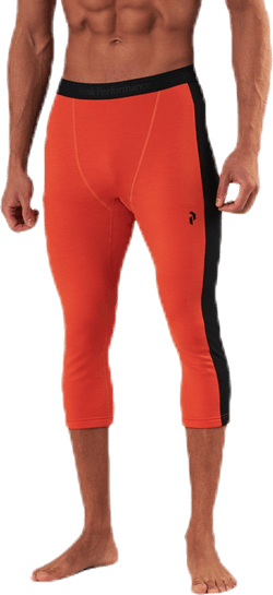 Vertical Mid Tights Orange