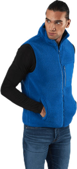 Original Pile Zip Vest Blue