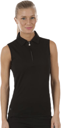 Macy S/L Polo Shirt Black