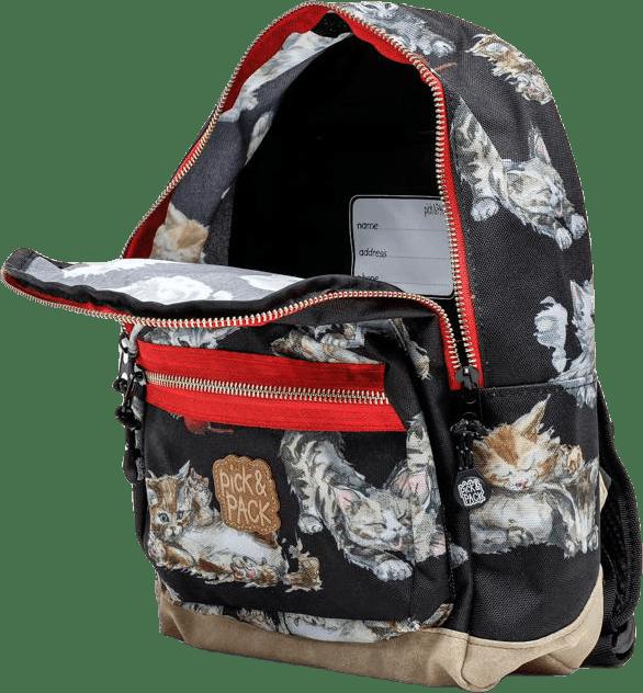 Kittens Backpacks Black