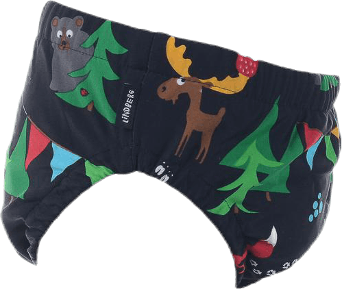 Paros Swim Diaper Patterned/Black