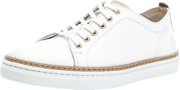 Silvermine Low Leather White