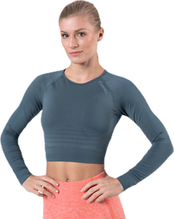 Define Seamless L/S Crop Top Green