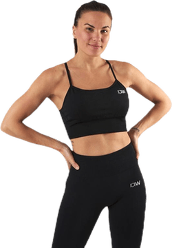 Queen Mesh Sport Bra Black