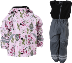 Nordskog Fleece-Lined Rain Set Pink
