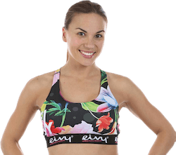 Shapey Sport Bra Patterned/Black