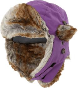 Squirrel Winter Cap Purple