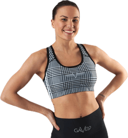 GLNCHCK 1 Sports Bra White/Black