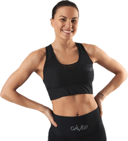 Mesh Black Swirl Sports Bra Black