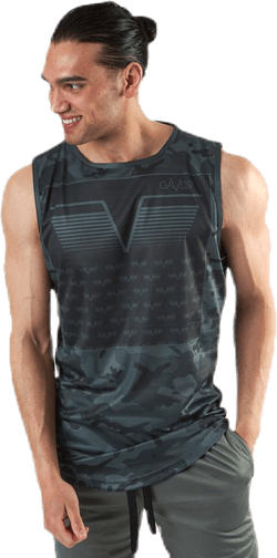 Sniper Green Sleeveless Tee Patterned/Green