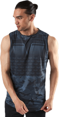 Sniper Blue Sleeveless Tee Blue/Patterned