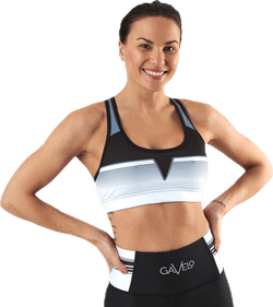 Grand Slam Black Sport Bra White/Black