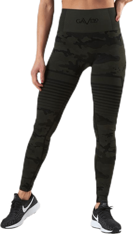 Seamless Camo Leggings Patterned/Black