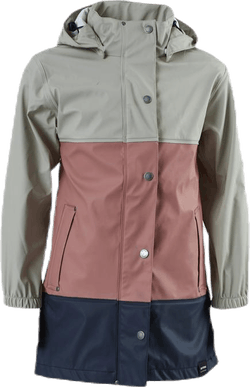 Jr Imber Rain Coat Pink/Blue/Grey