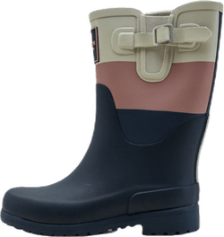Jr June Rubber Boot Blue/Pink/Grey