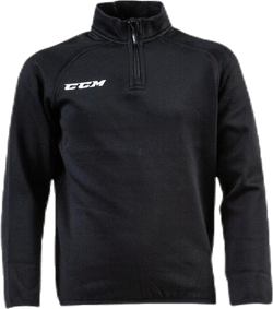 Locker Room 1/4 ZIP Jr Black