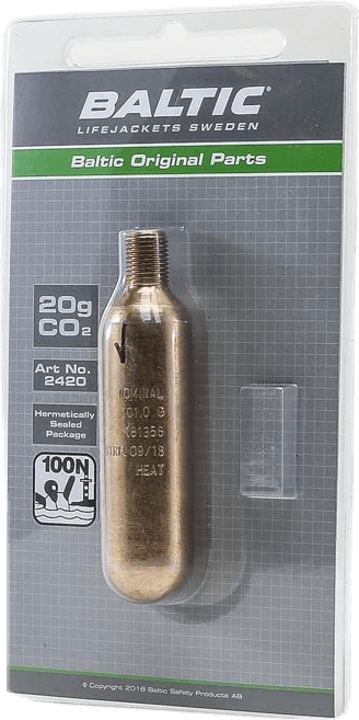 CO2-patron 20g m. säkerhetsstift Black