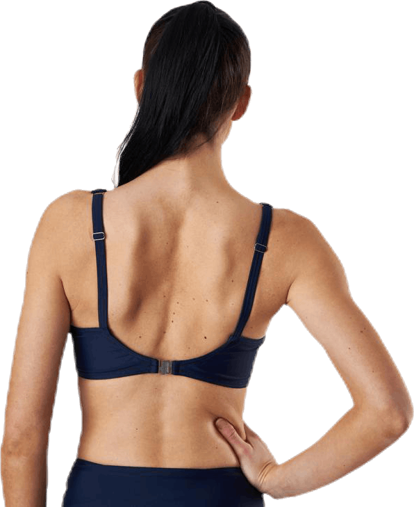 Capri Twisted Solid Soft Bra Blue