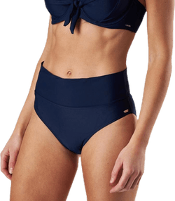 Capri Twisted Solid Folded Brief Blue