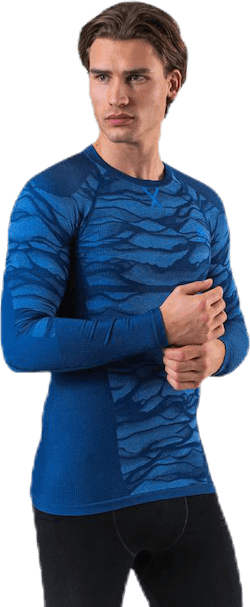 Suw Top Crew Neck L/S Performance Blackcomb Blue