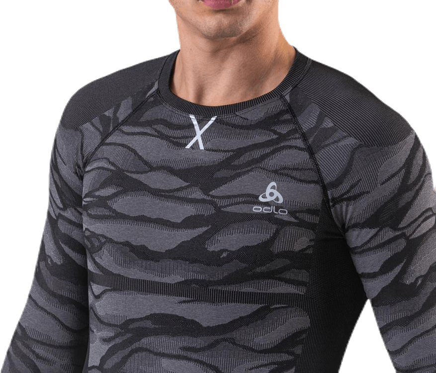 Suw Top Crew Neck L/S Performance Blackcomb Black/Grey