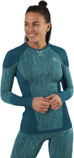 Blackcomb LS Crew Neck Top Green