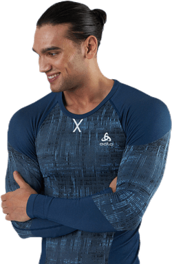 Blackcomb LS Crew Neck Top Blue