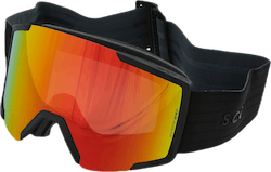 Goggle Shield + Extra Lens Black/Red