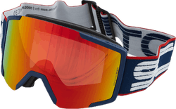 Goggle Shield + Extra Lens Blue/Red