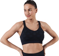 Merino Seamless Strappy Bra Black