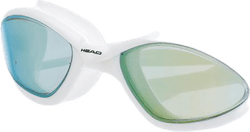 Tiger Mid Race Mirrored Goggle White