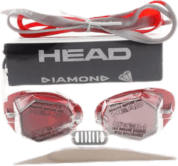 Diamond Mirrored Silver/Red