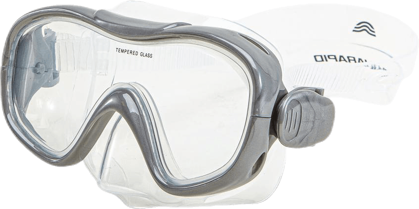 Dive Mask + Snorkel Set Jr Blue/Grey