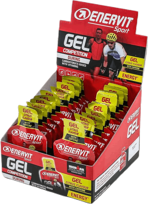 E.Sport Gel w. Caffeine Lemon 25 ml Red